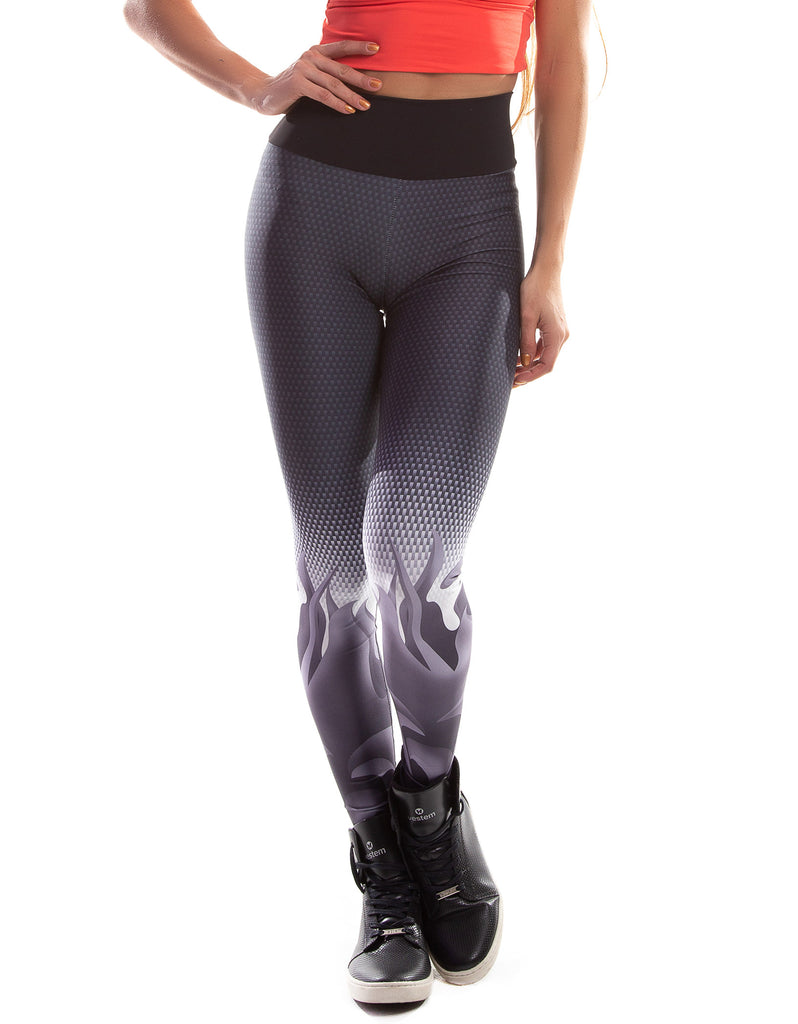 Lightweight Grey Print F/L Tights - Activewear Brazil