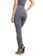 High Waist Seamless F/L Tights - Grey - Activewear Brazil