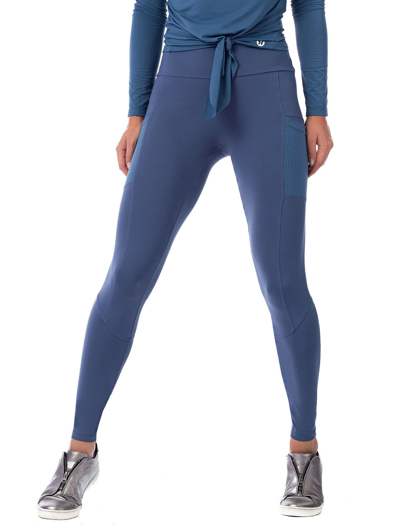 Mesh Pocket F/L Tights - Galaxy Blue