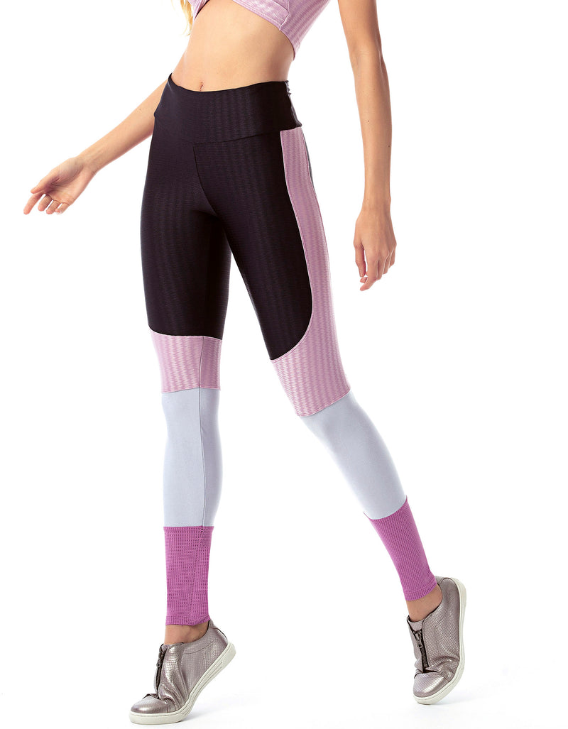 Textured Colour Block Supplex F/L Tights