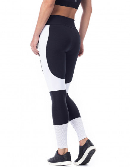 Jump Compression F/L Tights - Black/White