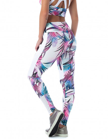 Lightweight Print Block F/L Tights - Tropical