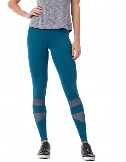 Mesh Panel F/L Tights - Ocean Blue
