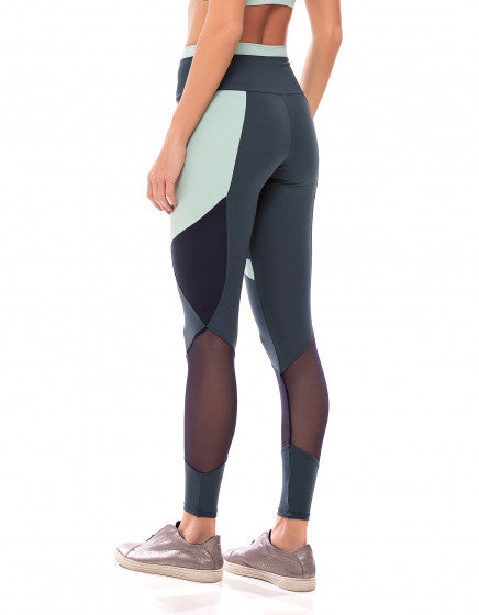 Mesh Panel F/L Tights - Shark Grey