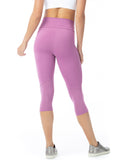 Pocket Mesh 3/4 Leggings - Pink - Activewear Brazil