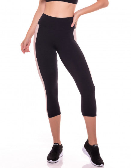 Mariane 3/4 Leggings - Black/Blush