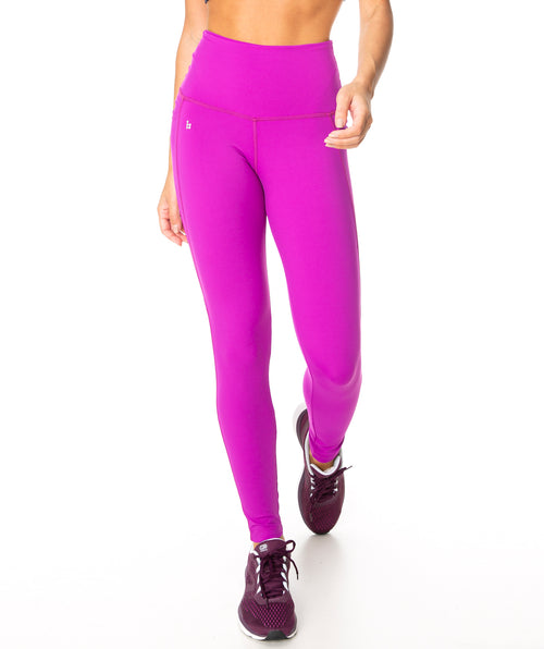 Buttery Soft Eco Compress F/L Tights - Fuchsia
