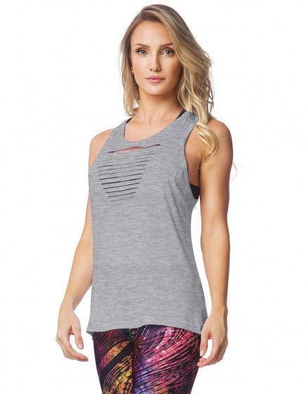 Distressed Tank - Heather