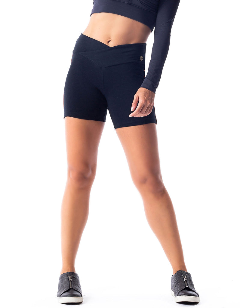 Supplex Shorts w/ Cross Over Waist - Activewear Brazil