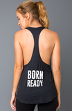 'Born Ready' Recycled Tank - Activewear Brazil
