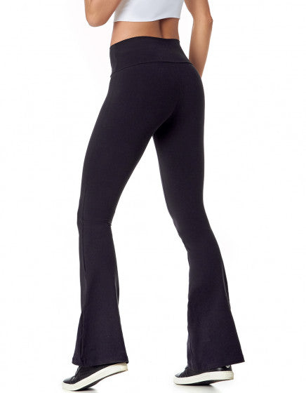 Flare Supplex Pants - Black - Activewear Brazil