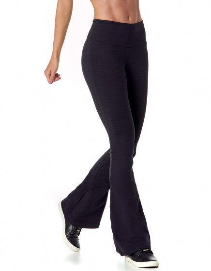 Flare Supplex Pants -Black - Activewear Brazil