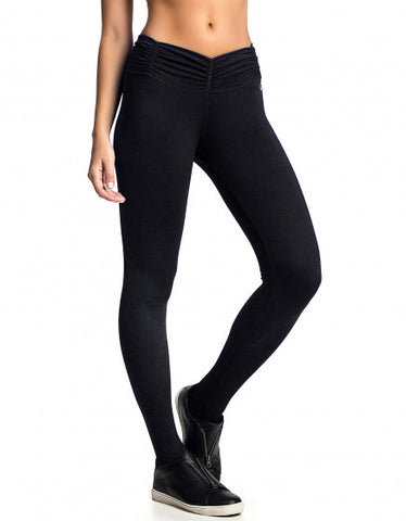 Khaki Block Supplex Compress F/L Tights - High Rise