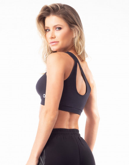 One Shoulder Top - Black - Activewear Brazil