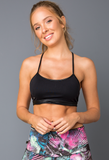 Back Straps Bra Top - Padded - Activewear Brazil