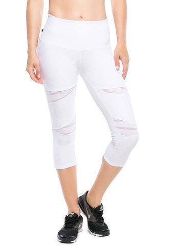 High Waist Reflective Supplex Compress Leggings