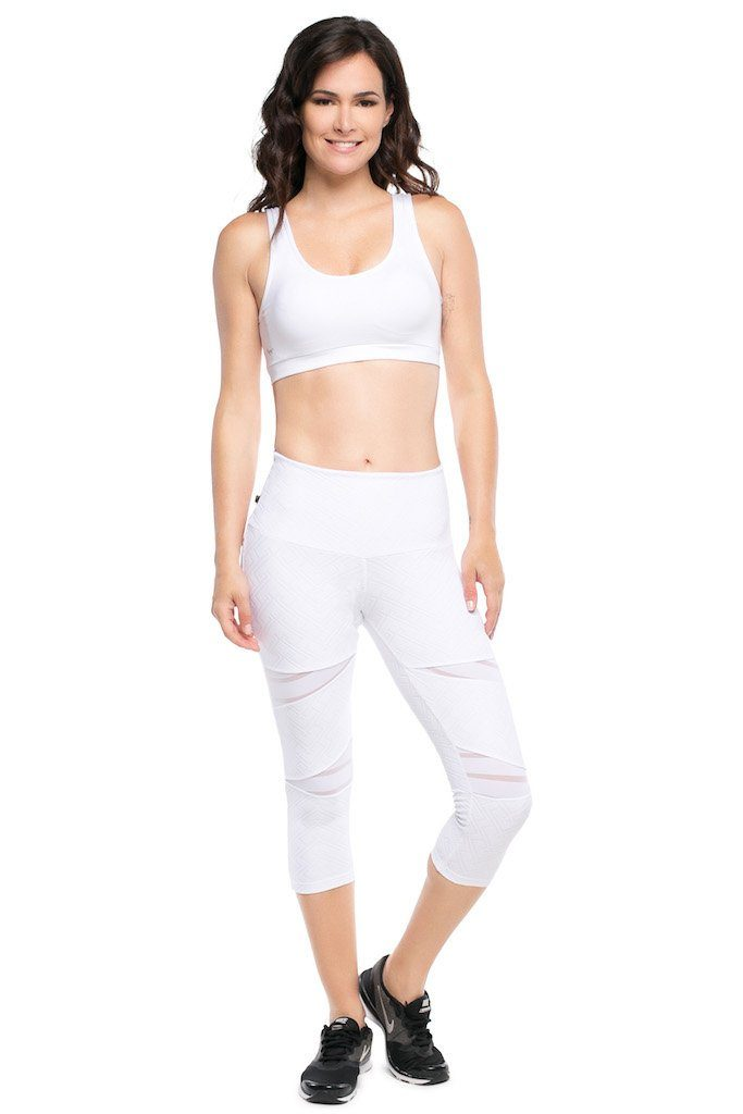 3D Textured Mesh Leggings - Mid Rise - Activewear Brazil