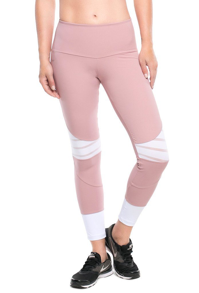 Emana Blush F/L Tights - High Rise - Activewear Brazil
