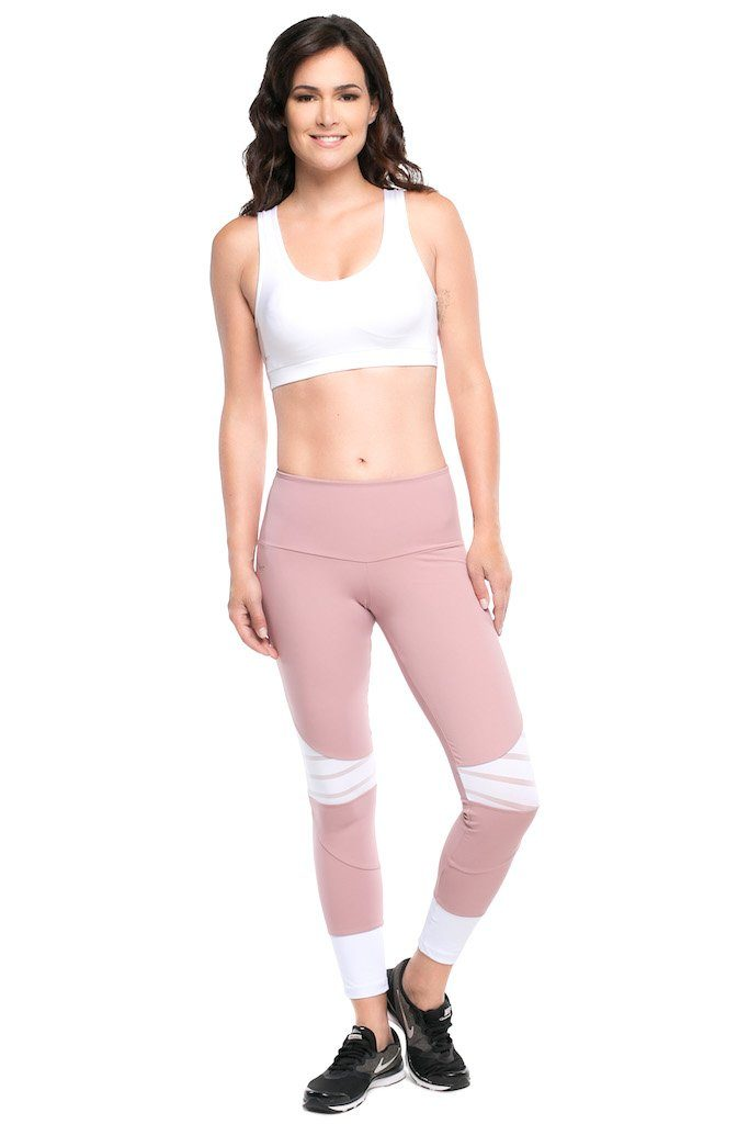 Emana Blush F/L Tights - M/L only! - Activewear Brazil