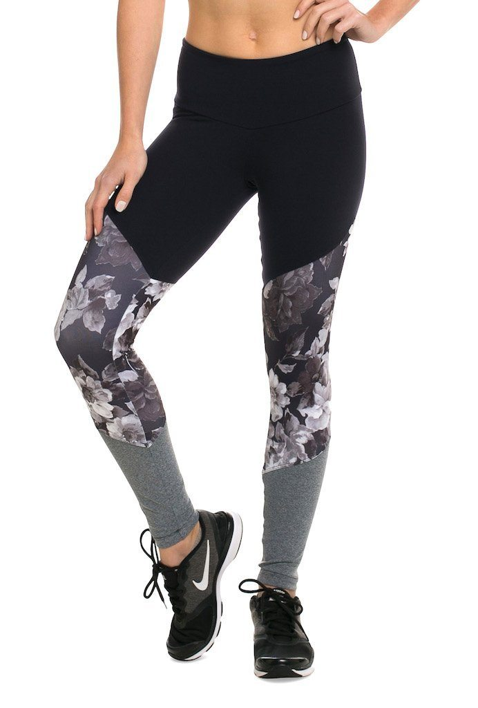 Floral Supplex Compress F/L Tights - XS only! - Activewear Brazil