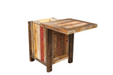 Barnwood Single Door Conceal Top Nightstand