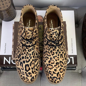Hush Puppies Bailey Chukka Boot Leopard Calf Hair Size 7.5 - At One Boutique, LLC