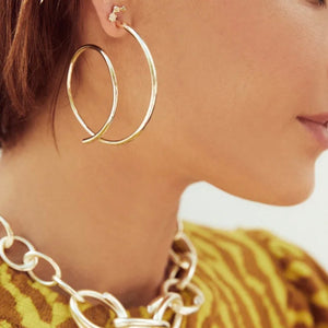 Kendra Scott Myles Hoop Earrings in Rose Gold