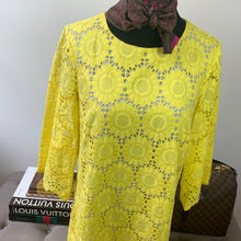 Lilly Pulitzer Mariella Scallop Dress Size 6 Lillys Lemon Floral Scallop Eyelet