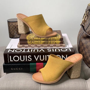 Dolce Vita Alycia Yellow Suede Espadrille Sandals Size 6 - At One Boutique, LLC
