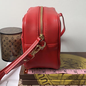 Vasic Anyway Cross Body Bag in Red & Gold. - At One Boutique, LLC