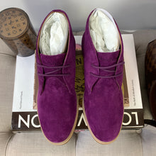 Hush Puppies Bailey Chukka Boots Sweet Plum Suede Size 5.5