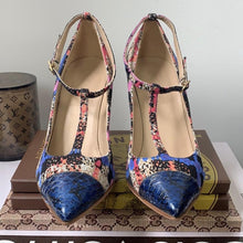 J. Crew Collection Everly Blue Plaid Multi-Print w/ Snakeskin Toe Pumps Size 6 - At One Boutique, LLC