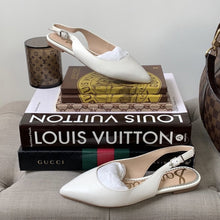 Sam Edelman Raya Slingback Flats in Bright White 5.5 - At One Boutique, LLC