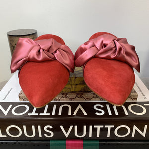 Louise et Cie Cela Bow Mules Ace Moxie Pink & Red Size 6.5 - At One Boutique, LLC