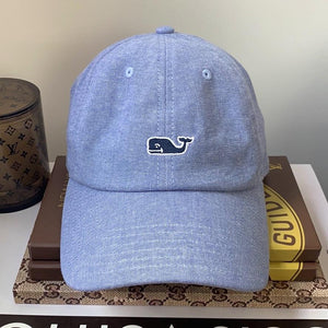 Vineyard Vines Baseball Hat Chambray Whale Logo - At One Boutique, LLC