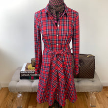 Draper James Angie Check Belted Shirtdress Size 2 NWT