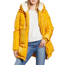 Sam Edelman Faux Shearling Lined Puffer Coat Size Medium