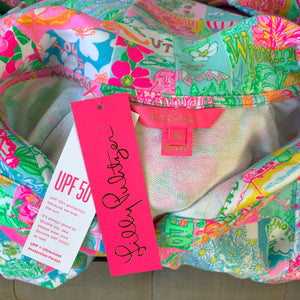 Lilly Pulitzer UPF 50+ Captain Popover in Multi Pop Up Lilly State Of Mind NWT Size Medium