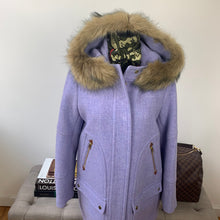 J. Crew Chateau Stadium Cloth Parka with Faux Fur Size 10
