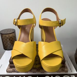 Kate Spade Grace Platform Sandals in Marigold Size 6 - At One Boutique, LLC
