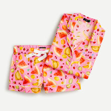 Edie Parker X J.Crew Short-Sleeve Pajama Set in Fruit Punch Size Small