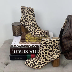 ABLE Celina Cheetah Animal Print Ankle Booties Size 6 - At One Boutique, LLC