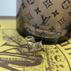 Kendra Scott Race Horse Charm in Vintage Gold - At One Boutique, LLC