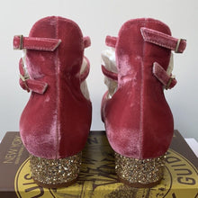 Kate Spade Marcellina Antique Rose Velvet Gold Glitter Heel Size 6 - At One Boutique, LLC