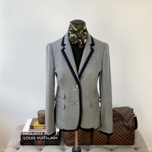 J. Crew Schoolboy Blazer in Tipped Wool Size 2 - At One Boutique, LLC