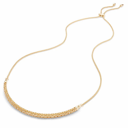 Kendra Scott Goldie Gold Choker Necklace In Gold Filigree
