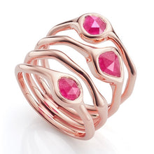 Monica Vinader Siren Cluster Cocktail Ring in Rose Quartz Size 7.5 = P