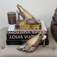 Vince Camuto Alleema Slingback Pump Taupe Snakeskin Print Size 6 - At One Boutique, LLC