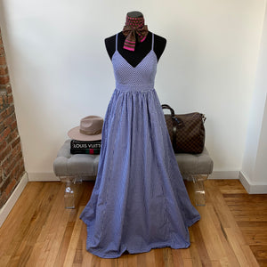 J. Crew Gingham Maxi Dress Size 0