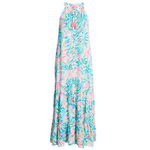 Lilly Pulitzer Luliana Maxi Dress Multi One In A Melon Size Small NWT